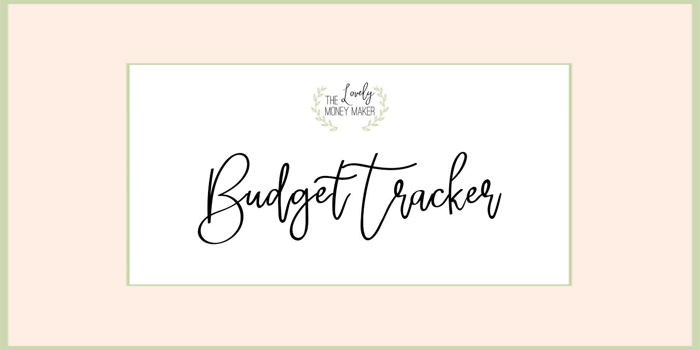 free budget tracker the lovely money maker